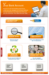 ICICI Facebook Banking application